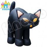 Gatto nero gonfiabile gigante esterno di Halloween da vendere
