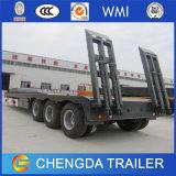 4개의 차축 낮은 침대 트럭 트레일러를 중국제 적재하는 80ton