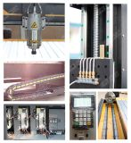 Router de pedra com linha central giratória grande, máquina de madeira do CNC de Ele 1324 do CNC de 4 linhas centrais para o gabinete