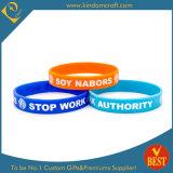 Wristband o braccialetto personalizzato del silicone stampato marchio per il regalo promozionale di attività o di affari