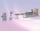 Doppelschrauben-Plastik verdrängt Produktionszweig, 300/400/500rpm, Ausgabe: 100-250kgs/H, Motor: 45-55kw