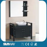 Mobilia calda della stanza da bagno di legno solido di vendita 2015 con lo specchio