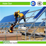折られる平屋根のPVの構造太陽電池パネルを取付ける