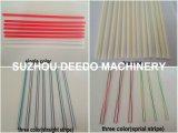 Drei Farben-Trinkhalm-Strangpresßling-Maschine