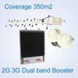 repetidor interno móvel da G/M 900 UMTS2100MHz 2g 3G do impulsionador do sinal da faixa dupla do amplificador do sinal 27dBm