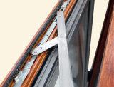 Finestra di alluminio della stoffa per tendine dei telai del doppio di profilo della rottura termica Colourful di legno Kz141 con la multi serratura