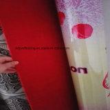 Le rouge du vinyle Floor/0.7mm a ressenti en arrière le plancher de roulis de PVC