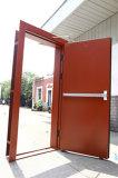 Type neuf avec la porte en acier ignifuge de modèle en verre de guichet