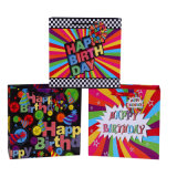 Compleanno Luxury Elegant Carrier Paper Bags Color Bag per Party