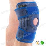 Protetor aberto estabilizado do joelho do neopreno da venda futebol quente com GV