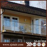 Балюстрада нержавеющей стали балкона Foshan установленная стеной с стеклом (SJ-H1904)