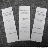 Изготовленный на заказ ярлык внимательности Tyvek напечатанный бумагой