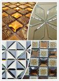 Línea recta vertical máquina de cristal que bisela del mosaico