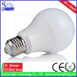 Aluminio + bulbo incandescente certificado Ce plástico de 12W LED