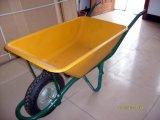 Carrinho de mão de roda plástico Wb6414t para o jardim
