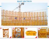 8 de China toneladas de guindaste de torre/guindaste torre Qtz100 da construção (6010) com carga do crescimento 60m/Tip: 1.0t