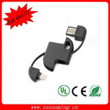Cabo de dados por atacado do carregador do USB Keychain do micro