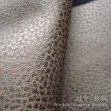 Tissu de cuir de suède de Microfiber avec le traitement de estampage chaud