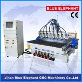 Machine universelle de commande numérique par ordinateur de travail du bois de 8 axes Ele-1730, routeur en bois de commande numérique par ordinateur de 8 axes de Chine