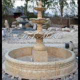 Fonte de pedra de mármore Mf-1032 do ouro do deserto da fonte do granito