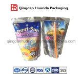 De douane Afgedrukte OEM Gemaakte Onregelmatige Vorm van het Fruit de Plastic Zak van de Zak van de Drank van het Sap Verpakkende