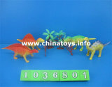 Dinosaur en plastique mou de jouets bon marché de bonne qualité réglé (1036802)