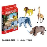 Puzzlespiel-Spielzeug des DIY Diorama-Baustein-pädagogisches Tier-3D