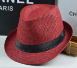 Mode Basic Coloré Papier Papier Fedora Tribly Hat