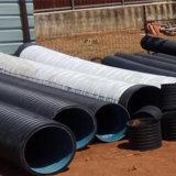 Tubo de drenagem ondulado perfurado em HDPE com geotextil