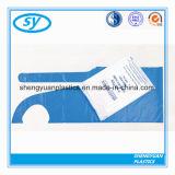 Avental plástico descartável do PE na luz - cor azul