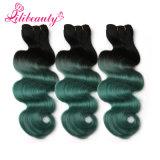Armure bon marché vendant en ligne le cheveu coloré mou de Malaysian d'Ombre