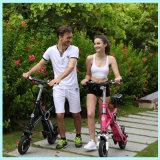 Mini bicicletas eléctricas plegables pequeñas con batería Panasonic