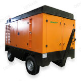 compresseur à moteur diesel portatif de 760cfm 10bar avec à vis