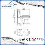 Tocador de cerámica del armario de dos piezas de Siphonic del cuarto de baño (AT1030)