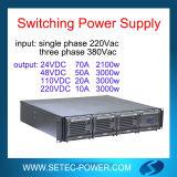 raddrizzatore di 24VDC 70A per l'alimentazione elettrica ed il carico di batteria