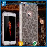 Caja única del teléfono de la impresión TPU+PC del leopardo del diseño de la manera para la cubierta del teléfono 6s del iPhone 6