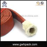 Manga de manga trançada de fibra de vidro revestida com silicone