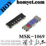 Переключатель изготовления SMD Китая микро-/переключатель скольжения (MSK-1069)