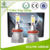 Todos en una 9005/9006 luz de niebla de 12V LED 3200lm 6000k/3000k