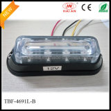 LED Doppio-Colored Warning Surface Lights in Liner4 Lens