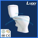 Хозяйственная уборная моет вниз двухкусочный керамический туалет с a-Grade качеством