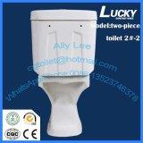 Toilette en deux pièces oblongue avec le certificat de la CE