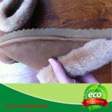 Chinelo de pele de pele de carneiro quente e invernal