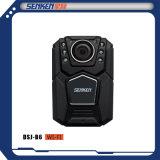 Senken 안전 방수 CCTV 경찰 바디에 의하여 착용되는 디지털 영상 IP 사진기 지원 WiFi& GPS 선택권