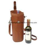 Supporto di cuoio di lusso del vino dell'elemento portante del vino