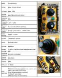 Radio sans fil industrielle de manche de C.C 24V Telecrane de manche à télécommande pour la grue