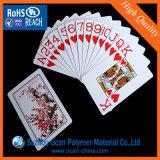 Feuille en plastique rigide de PVC de blanc lustré d'impression offset pour des cartes de jeu