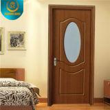 Diseño de la puerta de madera sólida, puerta de entrada principal, puerta del sitio de la chapa