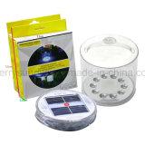 Lanterna solare gonfiabile portatile, impermeabile, lampada solare esterna del LED, indicatore luminoso di campeggio, pompa gonfiabile, attrezzo Emergency per fare un'escursione