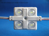 Inyección del alto brillo 12V 5730 con el módulo impermeable de la lente 4LEDs LED